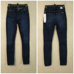 Hudson Natalie Midrise Skinny Jeans in Alga